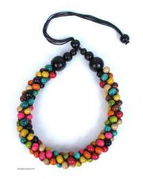 Collar multicolor, bolas de Mod MT