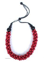 Collar multicolor, bolas de Mod Rojo