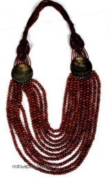 Collar largo multivueltas de madera con adornos en conchas, cordón [COBOU29]. Collares Hippie Étnico para comprar al por mayor o detalle  en la categoría de Bisutería y Plata Hippie Étnica Alternativa   ZAS Tienda Online.