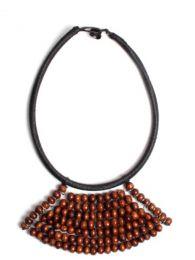 Collar étnico artesanal Mod Marrón