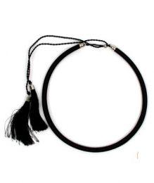 collar grueso de hilo en Mod Negro