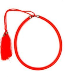 Outlet Hippie Costume Jewelery - Thick string necklace in plain and phosphorescent colors with clasp [COBOU34] to buy in bulk or in detail in the Alternative Ethnic Hippie Outlet category.