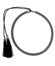 Outlet Bisutería hippie - collar grueso de hilo en colores COBOU34 - Modelo Gris