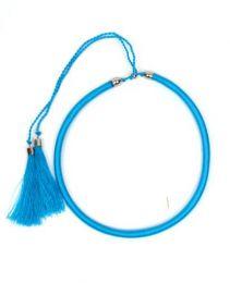 Outlet Bisutería hippie - collar grueso de hilo en colores COBOU34 - Modelo Azul