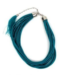 Thick string necklace in solid colors and phosphorescent multi-turns COBOU35 to buy in bulk or in detail in the Alternative Ethnic Hippie Outlet category.