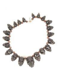 Schädelknochenhorn Halskette. Halsketten mit mehr als 20 Schädeln zum Kauf von Großhandel oder Details in der Kategorie Alternativer ethnischer Hippie-Schmuck und Silber | ZAS Online Store [COCHSK].