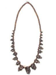 Schädelknochenhorn Halskette. Halsketten mit mehr als 20 Schädeln, um Großhandel oder Details in der Kategorie Alternative Ethnic Hippie Jewelry und Silver | zu kaufen ZAS Online Store. [COCHSK]