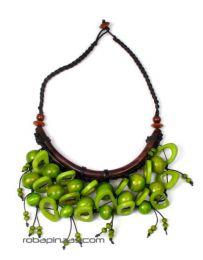 Collar étnico de Mod Verde