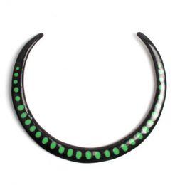 Collares Hippie Étnico - Collar étnico rígido, COMAT7 - Modelo Verde