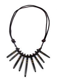 Collar etnico madera decorada cordón regulable para comprar al por mayor o detalle  en la categoría de Bisutería y Plata Hippie Étnica Alternativa | ZAS Tienda Online  [COMD3] .
