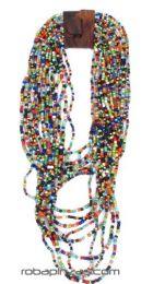 Collar multivueltas de cuentas Mod Multicolor