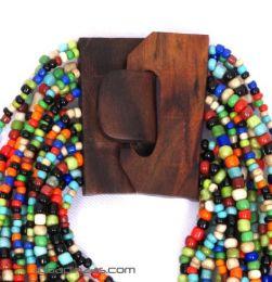 Collares Hippie Étnico - Collar multivueltas de cuentas COPA01.