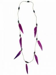 Collares Hippie Étnico - Collar largo étnico COPA09 - Modelo Morado