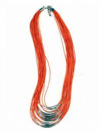 Collana etnica multi giro con cordino decoro argento COPA11 da acquistare all'ingrosso o dettaglio nella categoria Gioielli e Argento Hippie Ethnic Alternative | Negozio online ZAS.