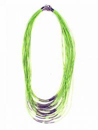 Collar étnico cordón multi vuelta decoración plata COPA11 para comprar al por mayor o detalle  en la categoría de Bisutería Hippie Étnica Alternativa.