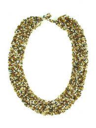 Ampia collana multi perle intrecciata, da acquistare all'ingrosso o dettaglio nella categoria Dilatatori e tasselli in corno e ossa | ZAS Hippie Store. [COPA12]