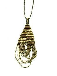 Ethnic Hippie Necklaces - Japanese silver gold beads pendant [COPA13] to buy in bulk or in detail in the Alternative Ethnic Hippie Costume category.
