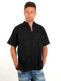 Camisas Hippies M Corta - Camisa cuello mao sin botones, CSRA03.