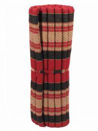 Almohadas y Colchones Kapok Tailandia - Colchoneta con relleno de CTMO03 - Modelo Rojo