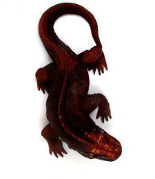 Decoración Etnica - Iguana tallada, iguana DBI09.