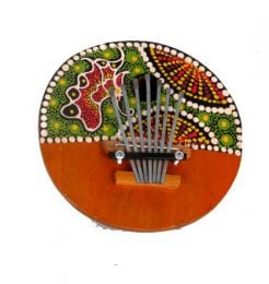 Carimba, dot paint decorated coconut musical instrument, indicative colors, to buy wholesale or detail in the Bohemian Hippie Fashion Accessories category | ZAS. [DCAR]