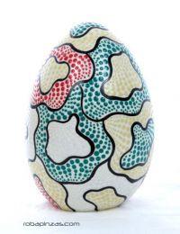 Lâmpada de ovo de fibra de vidro decorada com tectina pontilhada. DLASO02 para comprar no atacado ou detalhe na categoria Decoração étnica alternativa. Incenso e displays | Loja ZAS Hippie.