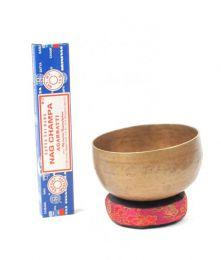 Cuencos Tibetanos - Singhing Bowl, cuenco cantarín DSG01 - Modelo Envejecido
