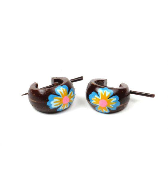 Pendientes coco rasta flores [PECO6] para Comprar al mayor o detalle