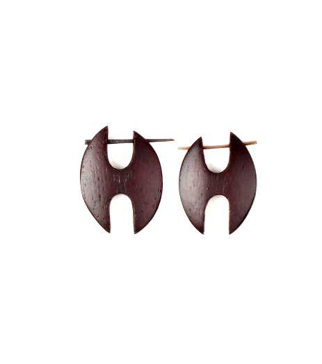 Pendientes étnicos madera, tamaño mini realizado en diferentes formas Comprar - Venta Mayorista y detalle