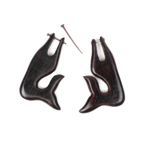pendientes madera delfin. pendientes realizados en madera de sono Comprar - Venta Mayorista y detalle