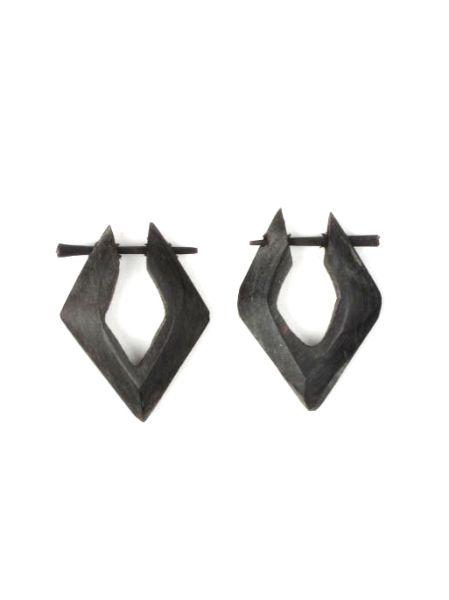 pendientes cuerno forma rombo. pendientes realizados en cuerno, con Comprar - Venta Mayorista y detalle