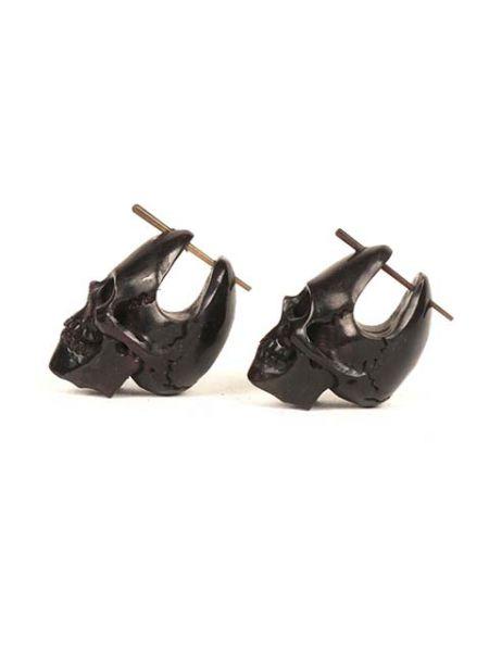 pendientes calaveras stick. pendientes tallados con forma de calavera Comprar - Venta Mayorista y detalle