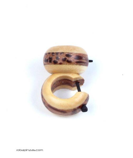Pendientes madera bicolor, precio por PAR Comprar - Venta Mayorista y detalle