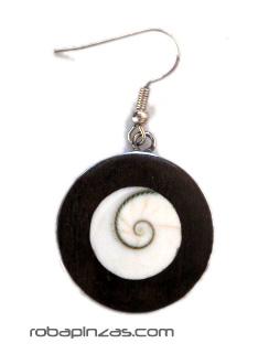 Pendientes acero inxidable con conchas -Ojo de Shiva, precio por PAR [PENAC1_A] para comprar al por Mayor o Detalle en la categoría de Pendientes Hippies Etnicos