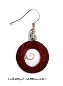 Pendientes acero inxidable con conchas -Ojo de Shiva, precio por PAR - M-7 Comprar al mayor o detalle