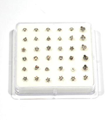 pendientes para la nariz rectos con formas, precio unidad - Detalle Comprar al mayor o detalle