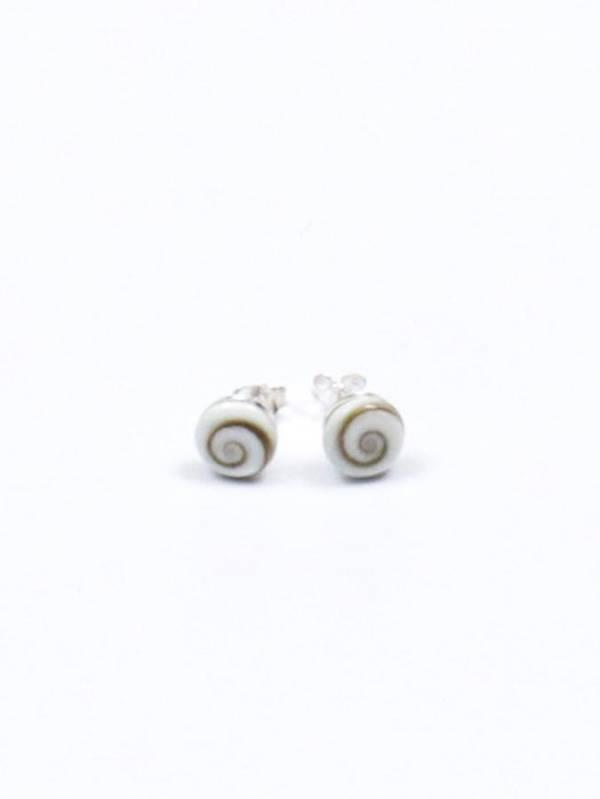 Pendientes Plata Ojo de Shiva botón pequeño [PEOJ10] para comprar al por Mayor o Detalle en la categoría de Ojo de Shiva - Plata