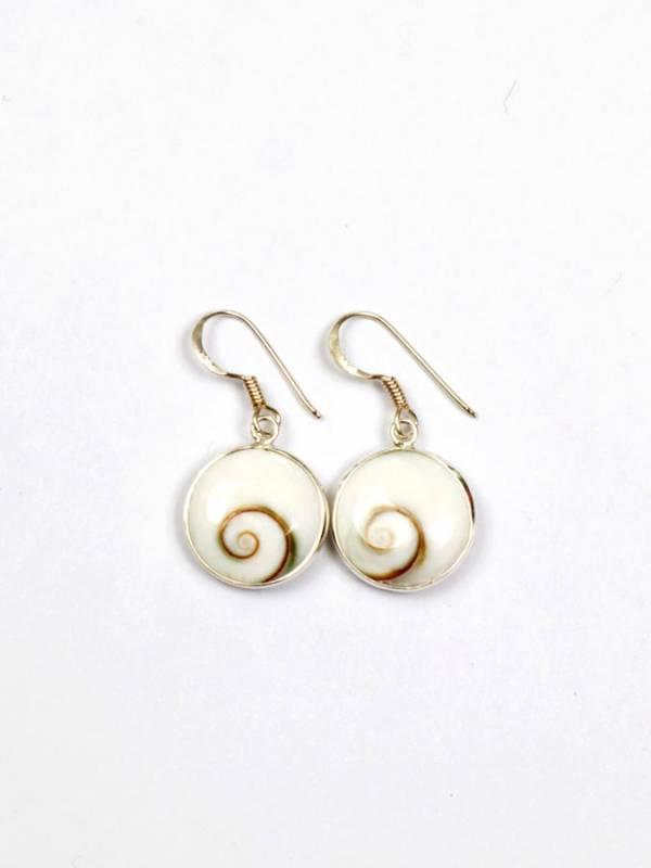 Pendientes Plata Ojo de Shiva Circular [PEOJ13] para comprar al por Mayor o Detalle en la categoría de Ojo de Shiva - Plata