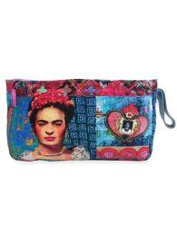 Frida Kahlo Taschen und Geldbörsen - Große Frida Kahlo bedruckte Kulturtasche. [ESMEBA], um Großhandel oder Detail in der Kategorie des alternativen Hippie-Zubehörs zu kaufen.
