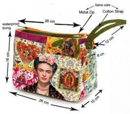 Bolsos Monederos Frida Kahlo  - Neceser - estuche grande con ESMEBA.