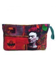 Neceser Grande Estampados Frida Kahlo. ESMEBA para comprar al por mayor o detalle  en la categoría de Accesorios de Moda Hippie Bohemia | ZAS.