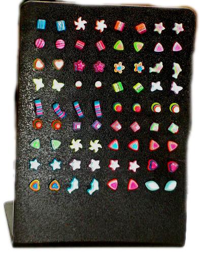Pendientes cierre silicona motivos variados [PEUV] para comprar al por Mayor o Detalle en la categoría de Outlet Bisutería hippie