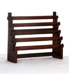 Wood Displays - Staircase ring display with 5 rollers, measures 24x20 cm [EXAN03] to buy in bulk or in detail in the Handicrafts category.