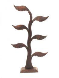 Holzbaumanzeige für Ohrringe. Holzaussteller zum Großhandel oder Detail in der Kategorie Alternative ethnische Dekoration kaufen. Weihrauch und Displays | ZAS Hippie Store. [EXPE08]
