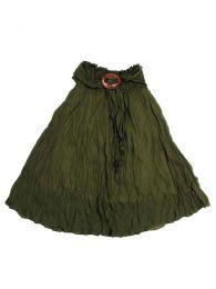 Falda 100% algodón Mod Verde