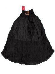 Faldas Hippie Boho Étnicas - Falda 100% algodón FAAL02 - Modelo Negro
