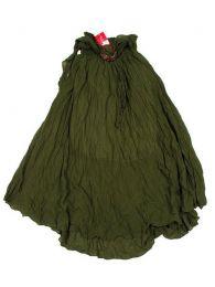 Faldas Hippie Étnicas - Falda 100% algodón FAAL02 - Modelo Verde