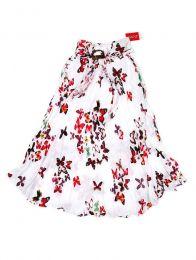 Faldas Hippie Étnicas - Falda blanca con estampado FAAL03.