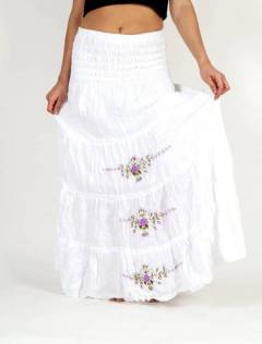 Ethnic Flowers Embroidered Dress-Skirt FAAO01 to buy wholesale or detail in the category of Alternative Hippie Clothing for Women.
