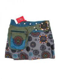 Minifalda 100% algodón Mod Gris